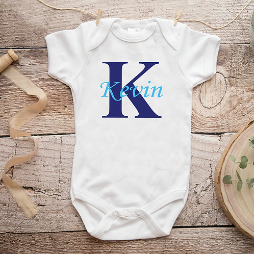New Born Baby vest Name & Initial Personalized Christmas Gift 2018