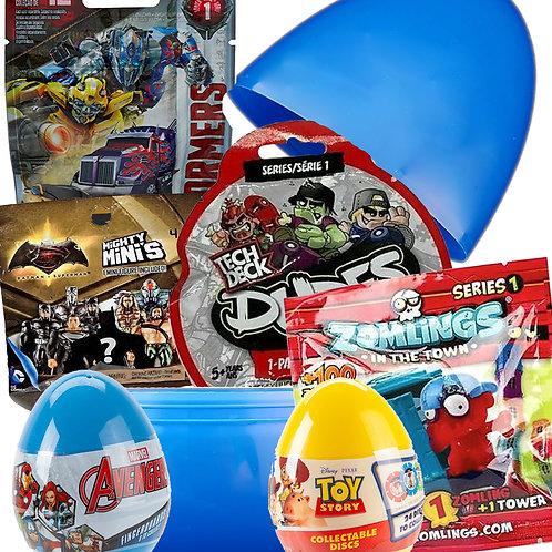 Boys Filled Mystery Surprise Egg Birthday Easter Present Large Giant Jumbo