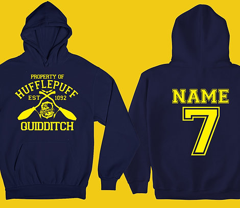 Kids Property Of HUFFLEPUFF Hoodie Personalized Name & Number Quidditch