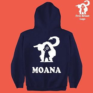 Disney's Moana Inspired Kids Custom Personalized Hoodie