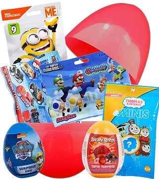 Boys Large Mystery Easter Egg Filled With Fun Toys Surprise Bags & Eggs Gift