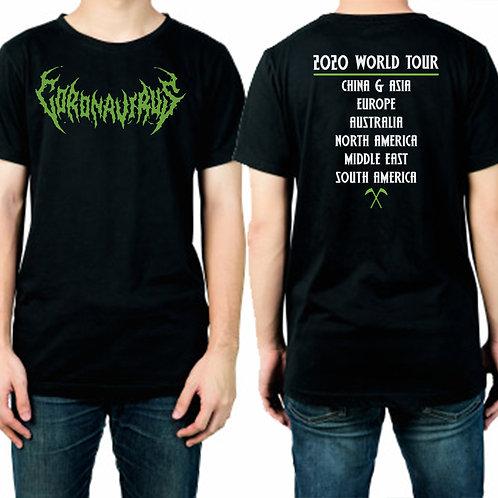 Heavy Metal Coronavirus Rock Band T-Shirt Adults Funny Corona Virus Joke T Shirt