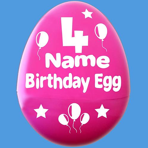 Happy Birthday Personalized Giant Egg Empty