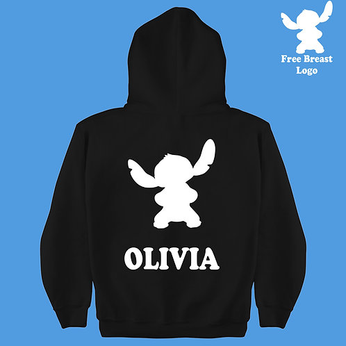 Experiment 626 Disney Stitch Personalized Hoodie Boys & Girls Present Gift