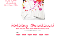 Holiday Deadlines!