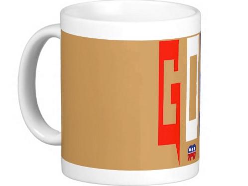 "GOP Coffee Mug "" Light Gold """