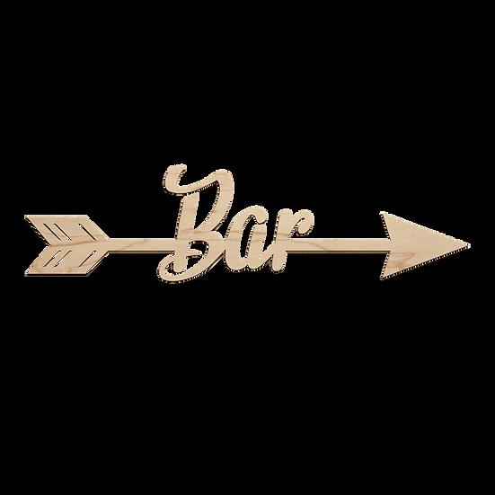 Bar Arrow Sign