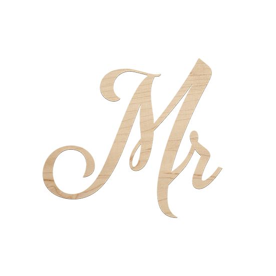 Mr. & Mrs. Individual Signs (Sold Together)