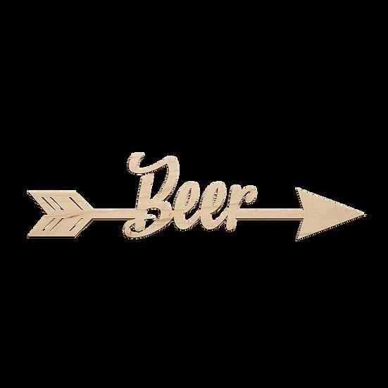 Beer Arrow Sign