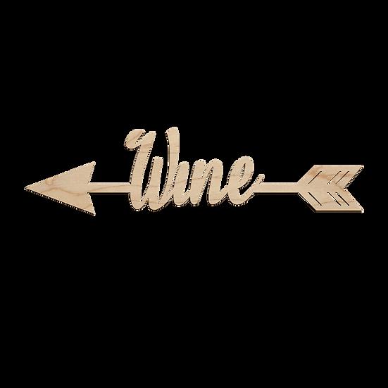 Wine Arrow Sign