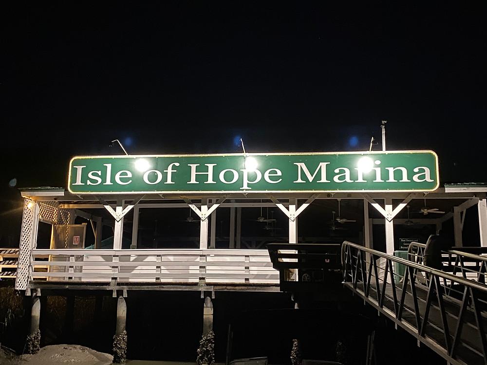 Isle of Hope Marina Sign