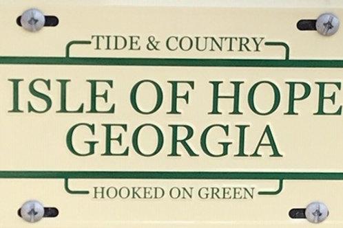 Isle of Hope Car Tag