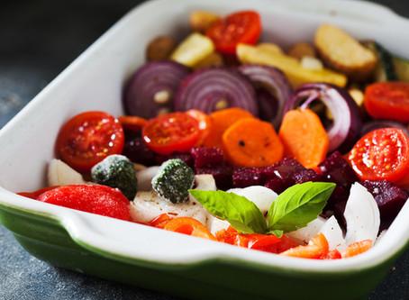 Recipe: One Pan Pesto Veggie Tray Bake