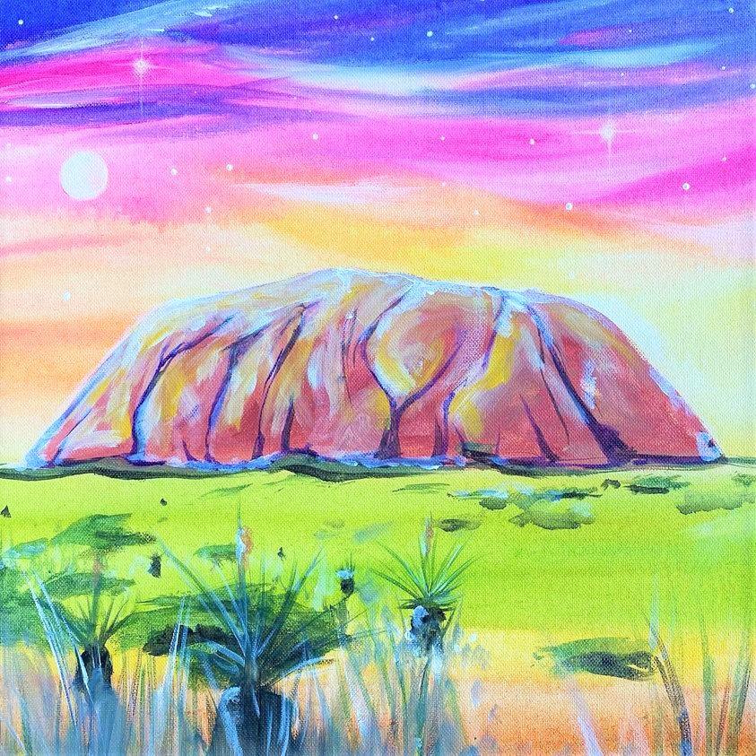 Uluru Twilight   Sip and Paint