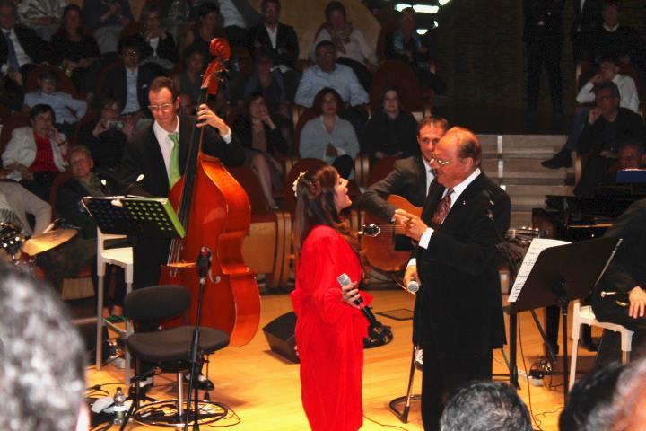 W/ Renzo Arbore, Ph Daniela Cesaro