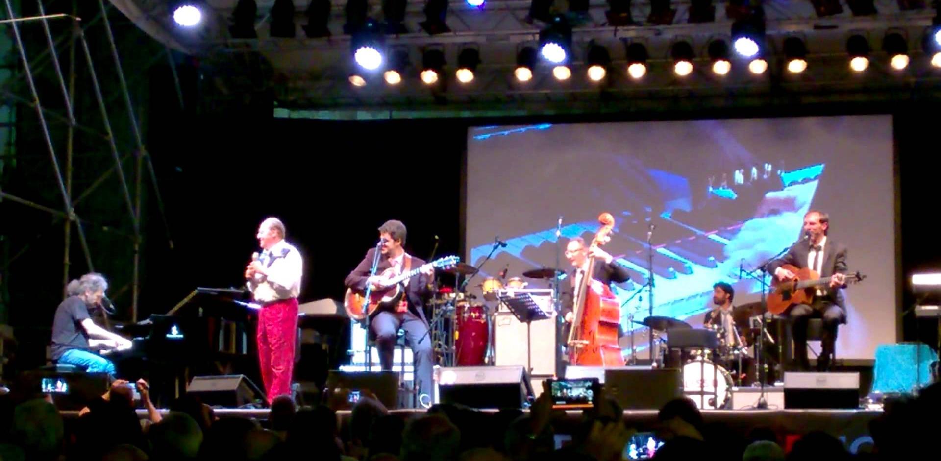 Con Renzo Arbore and Stefano Bollani - Live @ Umbria Jazz 2015