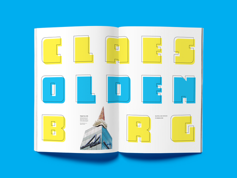 Claes Oldenburg Magazine Spreads