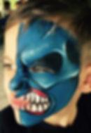 Monster skull face painting