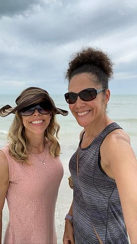 Erica & Anya on beach.JPG