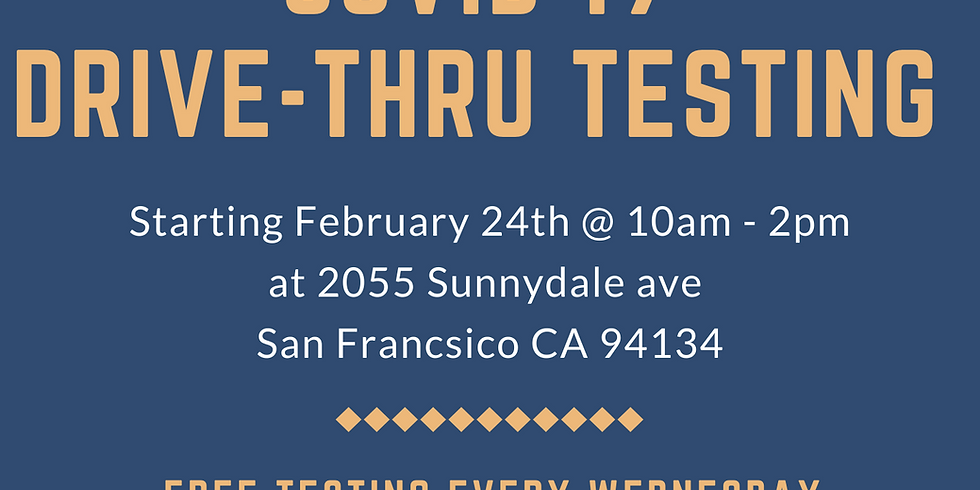 COVID 19 Drive Thru Testing - Every Wednesday