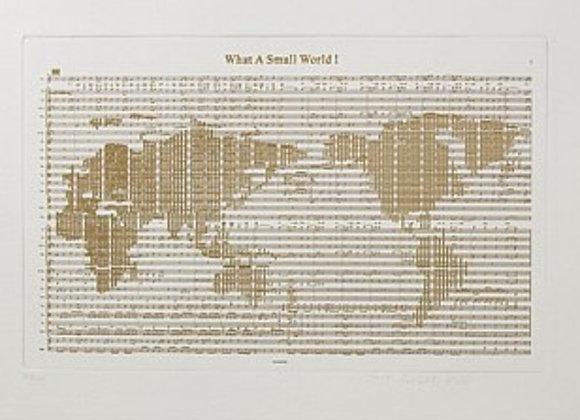 【原創版畫】郭佩奇Peggy Kuo / 小小世界 世界地圖