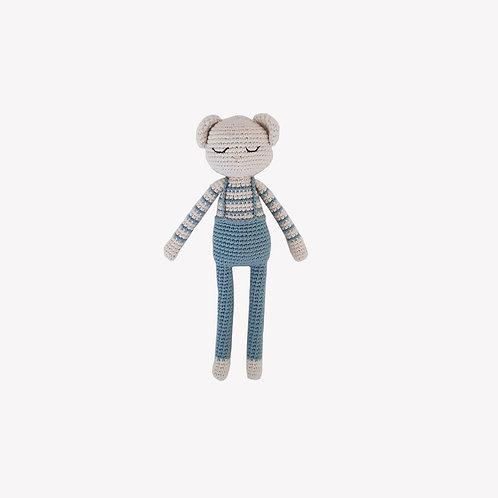 Teddy Organic-Cotton Toy - blue