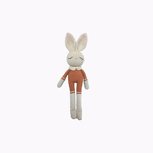 Bunny Organic-Cotton Toy terracotta jumpsuit