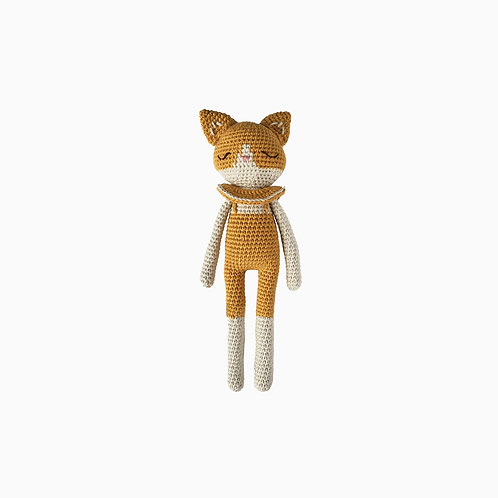 Forest Cat Organic-Cotton ochre