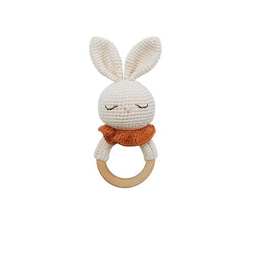 Bunny Teething Ring Organic-Cotton