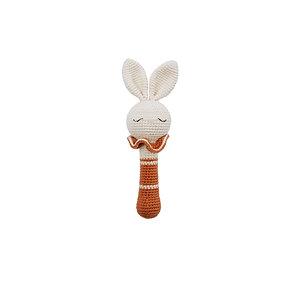 Bunny Rattle Organic-Cotton terracotta