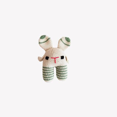 Bunny Organic-Cotton Toy - striped