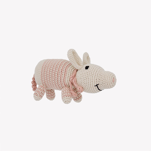 Pig Organic-Cotton Toy - prim striped