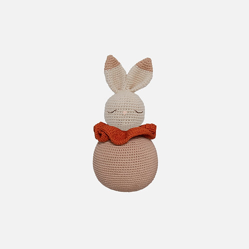 Rolling Bunny Organic-Cotton Toy - beige