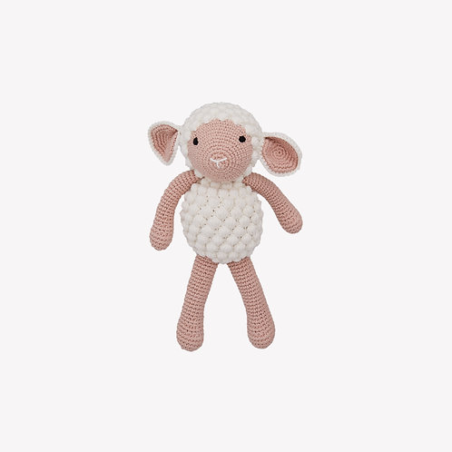 Sheep Organic-Cotton Toy - white