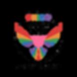 PRIDE 2020 Logo Grungy overlay black tex