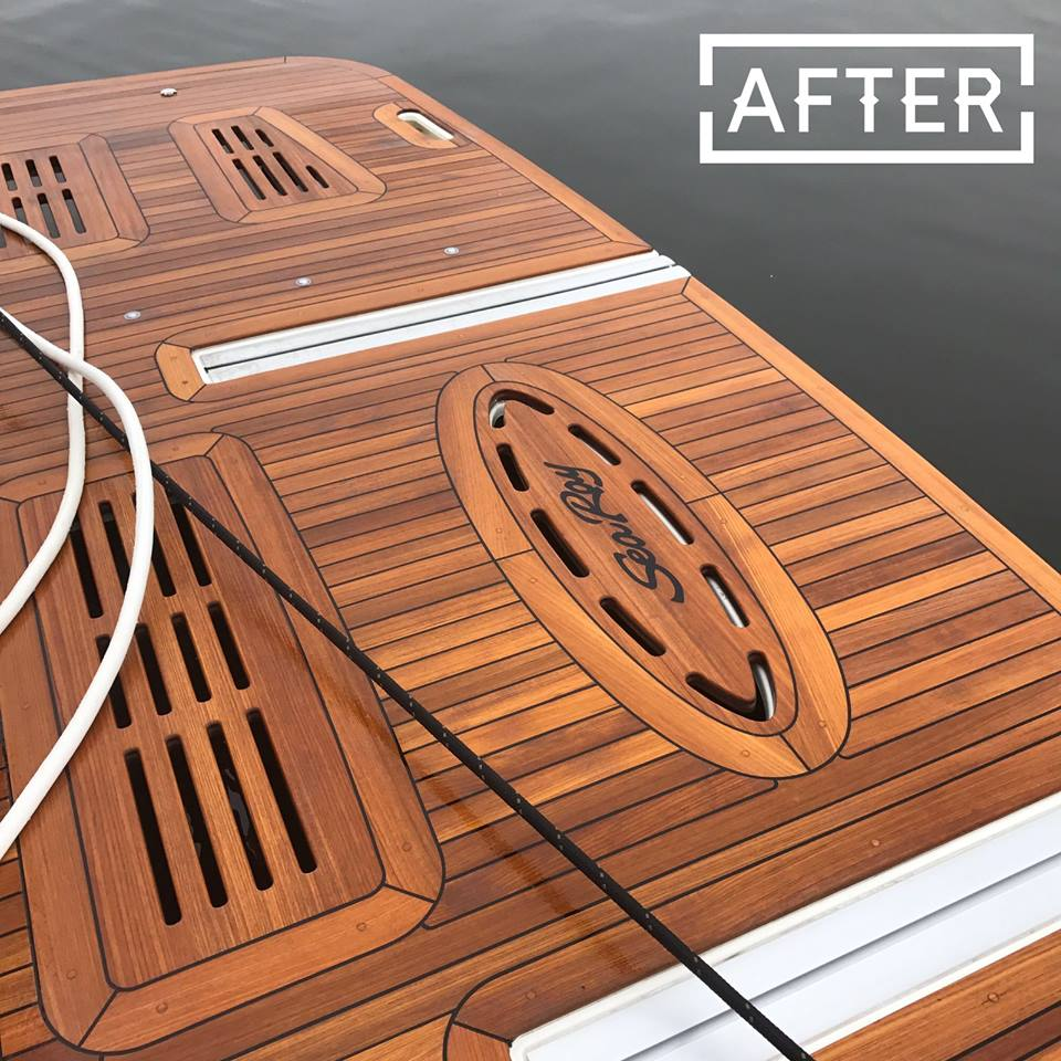 After Teak Cleaning