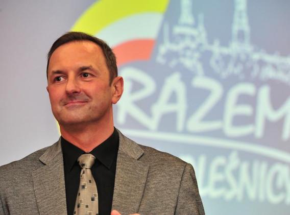 Michał Kołaciński podczas 1. rocznicy RdO w samorządzie