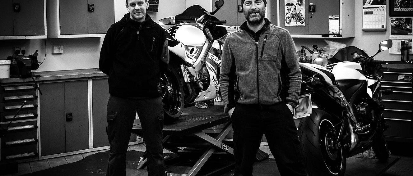 Mark Gallop and Lindsay Pullman. Honda technicians.
