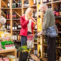 Persönliche Assistenz beim Einkauf.