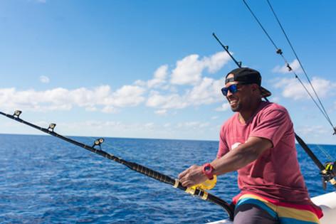 Master fisherman at work