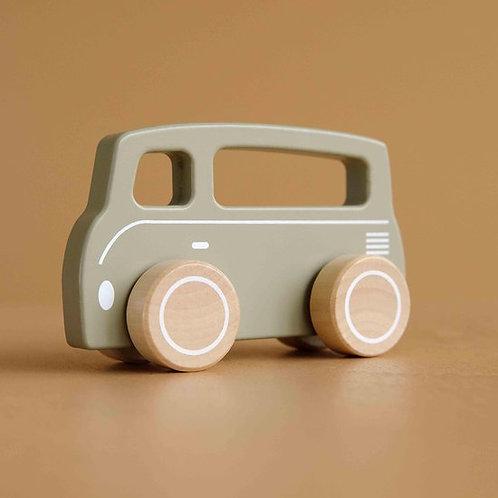 Houten speelgoed busje