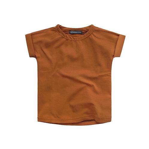 Cognac boxy t-shirt