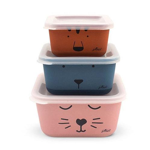Snack Box Set 3-pcs
