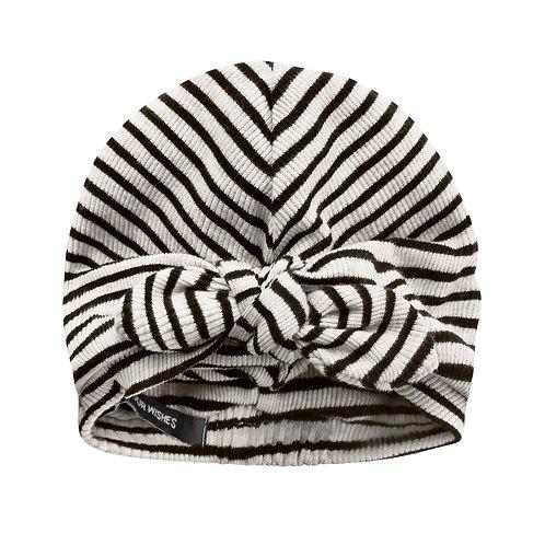 Beige stripe turban