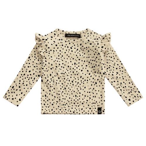 Cheetah nude ruffel top