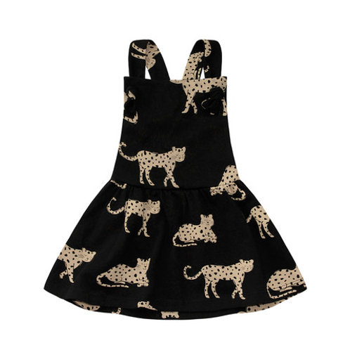 wild cheetah Dungaree Dress