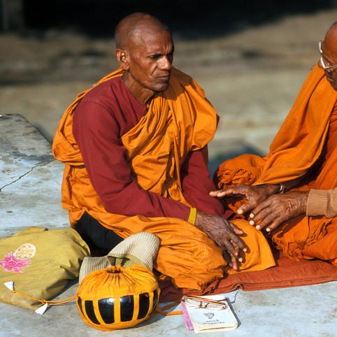 Two monks, Bodgaya