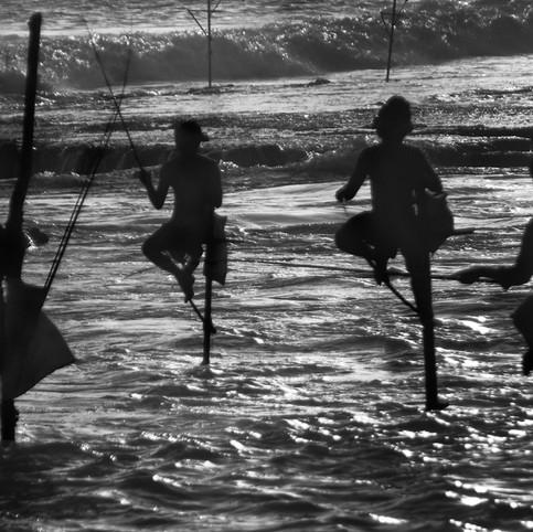 Stilt fishermen