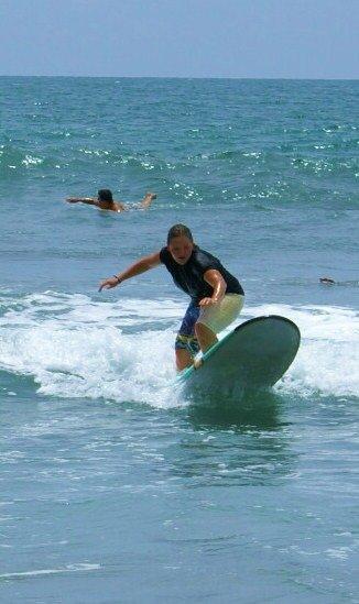 Моя дочь Елена - серфинг