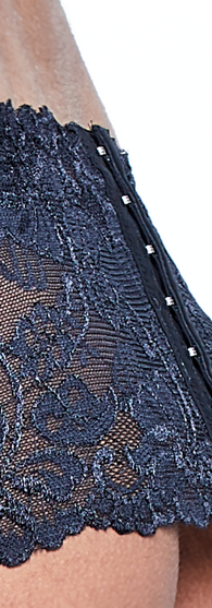 Lace Suspender Belt Close Up